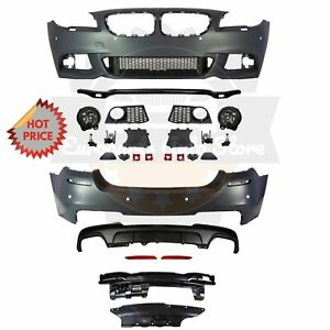 Bmw F10 Msport Style Front Rear Performance Bumper For 11 13 Bmw F10 550 Pdc