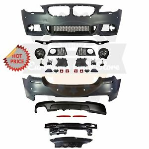 Bmw F10 Msport Style Front Rear Performance Bumper For 11 13 Bmw F10 528i Pdc
