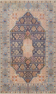 Antique Masterpiece Geometric 4x6 Wool Nain Oriental Area Rug 5 8 X 3 5