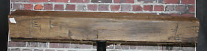 Rustic Reclaimed Mantle Hand Hewn Oak Barn Beam Wood Mantel Floating Shelf 42