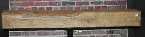 Rustic Reclaimed Mantle Sawn Oak Barn Beam Wood Floating Mantel Shelf 52