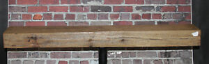 Rustic Reclaimed Mantle Sawn Oak Barn Beam Wood Floating Mantel Shelf 47