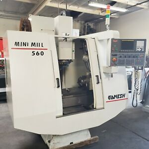 Ganesh 560 Mini Mill Full 4 axis Cnc Vertical Machining Center W Rotary Fanuc