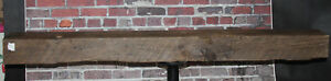 Rustic Reclaimed Mantle Sawn Oak Barn Beam Wood Mantel Shelf 60