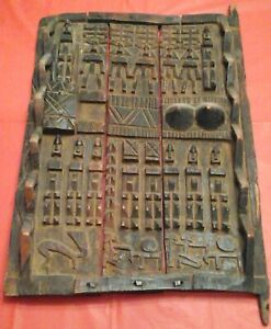 African Dogon Granary Door Mali Africa Early 20th Century Private Collection