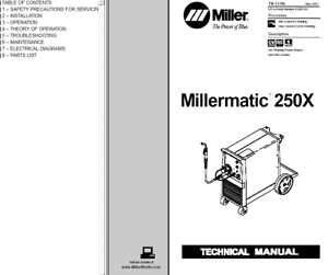 Miller Millermatic 250x Service Technical Manual