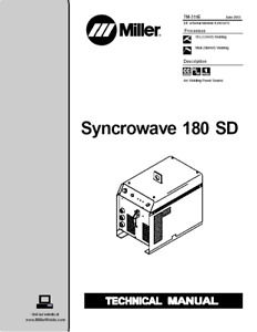 Miller Syncrowave 180 Sd Service Technical Manual