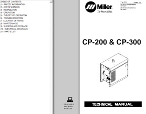 Miller Cp 200 Cp 300 Service Technical Manual