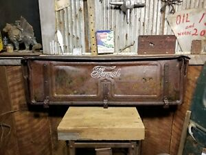 1935 36 Ford Truck Tailgate Tail Gate Oem Bar Garage Decor Rusty Patina Man Cave