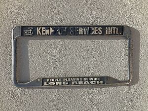 License Plate Frame Long Beach California Vintage Kennedy Services International