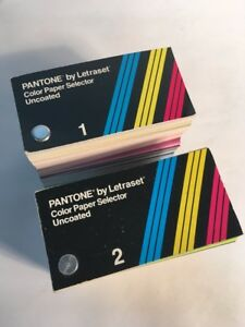 Vintage Pantone Selector Set By Letraset Overlay Collection