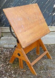 Vintage Early 20th Century Ancobilt Tilting Adjustable Drafting Table