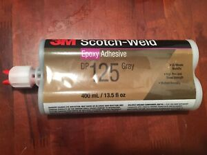 3m dp125 Epoxy Adhesive Dp125 Gray 400 Ml 1 Two Part Cartridge