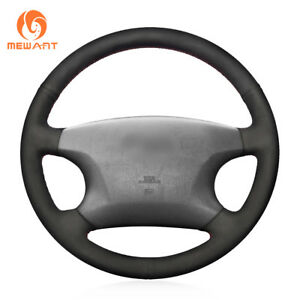 Black Suede Steering Wheel Cover Wrap Around For Toyota Avalon Highlander Camry