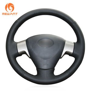 Genuine Leather Steering Wheel Cover Wrap For Toyota Corolla Matrix Auris 2009