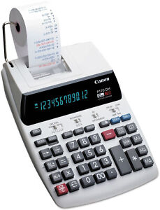 Canon Printing Calculator Black red Print 2 3 Lines sec Business Home Finances