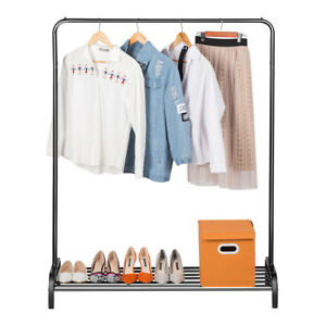 Commercial Clothing Rack Dry Hanger With Shoe Rack Heavy Duty Storage Organizer