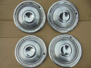 1960 60 Chrysler New Yorker 14 Wheel Covers Hub Caps Nice