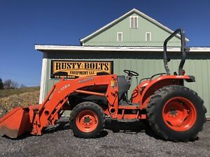 Kubota L3540 Hst 4x4 Compact Tractor loader 37hp Quick Attach Low Cost Shipping