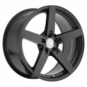 One 1 20x8 5 Et 25 Mandrus Arrow Black Wheel 5x112