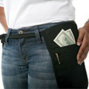 24 Cocktail Waiter Waitress Money Pouch Belt Black Fits Small Phablet Tablet