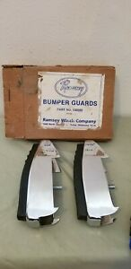 Nos New Vintage Pickup Truck Car Chrome Bumper Guards Fit Set Two