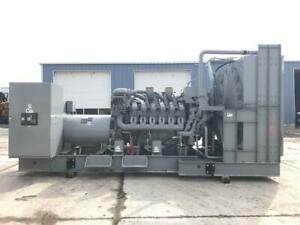 1750 Kw Mtu Generator Set 12 Lead Reconnectable 2010 Unused Surplus Epa T