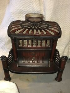 Antique 1900s Parlor Wood Burning Stove Cottage Maid 147 Wehrle Co