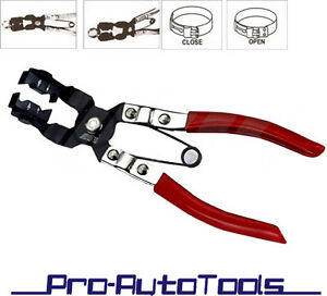 Angle Type Swivel Tip Hose Clamp Pliers Clamper Tool