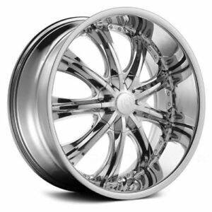 Set Of 4 Wheels Tires Package 24 Inch Red Sport Rsw 33 Chrome