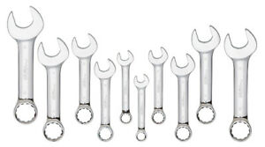 Platinum Tech 10pc Metric Stubby Combination Wrench Set 10mm To 19mm 99525