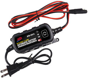 Atd 6 12v Fully Automatic 1 5a Battery Charger Maintainer Wet Agm Gel 5915
