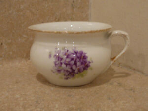 Antique China Porcelain Doll Child Size Chamber Pot From Wash Set Violets