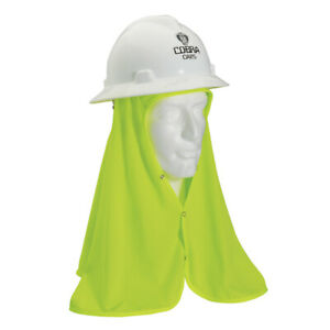 6 Safety Hard Hat Flex Cool Off Shade Lime Neck Shield Helmet Sun Shade Hi Viz