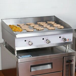 36 Natural Gas Commercial Restaurant Countertop Griddle Thermostatic Controls
