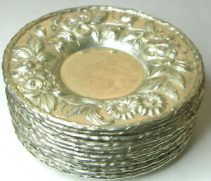 1 S Kirk Repousse Sterling 5 1 4 133a Hand Decorated Tray Saucer No Mono Hav 12