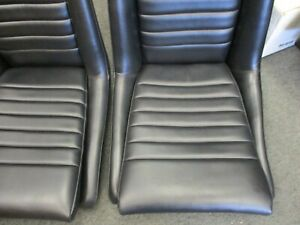 One Porsche 914 Reupholstered Seat 1970 76 With Black Vinyl Driver Or Passenger