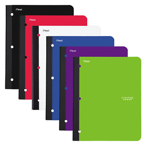 Five Star Bound Notebooks With Pocket 1 Subject College Ruled Paper 80 11 X