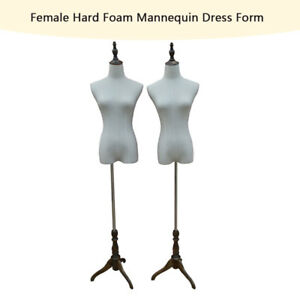Female Hard Foam Mannequin Dress Form New Clothes Model With Base And Neck Cap