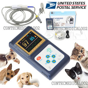 Veterinary Pulse Oximeter Handheld Spo2 Pr Monitor Vet Tongue Probe software usa