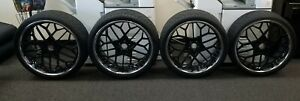 24 Rucci Forged Magliato 5 Lug Wheels Rims Set Toyo Proxes 4 Tires New Hs299