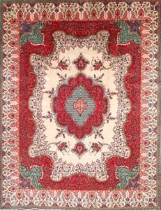 Hand Knotted Floral 10x13 Wool Persian Tebriz Area Rug Oriental 12 10 X 9 7