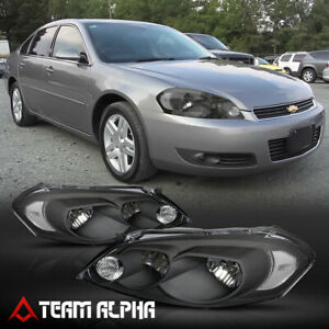 Fits 2006 2016 Chevy Impala monte Carlo black clear Crystal Corner Headlight