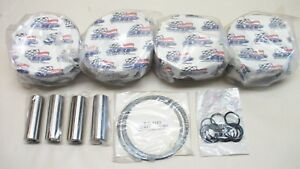Sbc 4 Je Forged Flat Top Pistons 185819 Brand New 4 185 3 750 Stroke 6 Rod