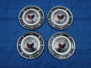 Set Of 1962 1963 Mercury S55 Marauder Monterey 14 Hubcaps