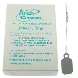 Arch Crown Merchandise Jewelry Price Tag Silver Square String Style 1000 Pcs