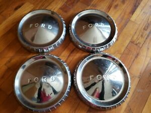 1960 1961 1962 1963 Ford Falcon Ranchero 9 5 Dog Dish Hubcaps Wheel Covers