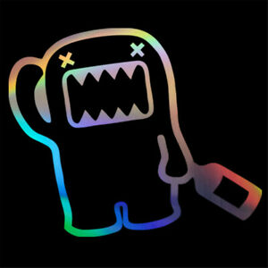 Domo Kun Funny Sticker Car Motorcycle Laptop Window Wall Removable Vinyl Decal
