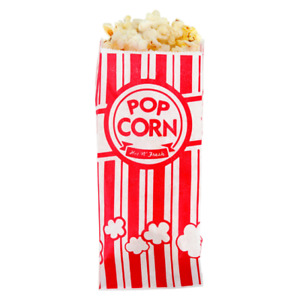 1000 Case Carnival King 8 Paper Popcorn Machine Bag 1 Ounce Red