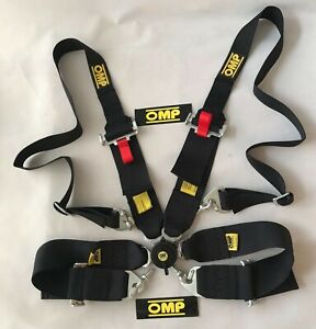 Universal Black 4 Point Camlock Quick Release Seat Belt Harness 3 W Omp Racing